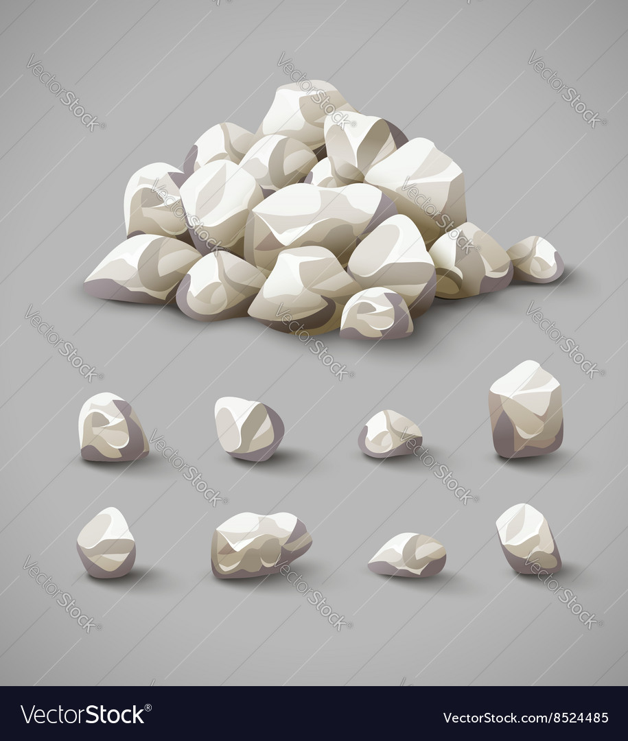 Set of rocks and stone pile
