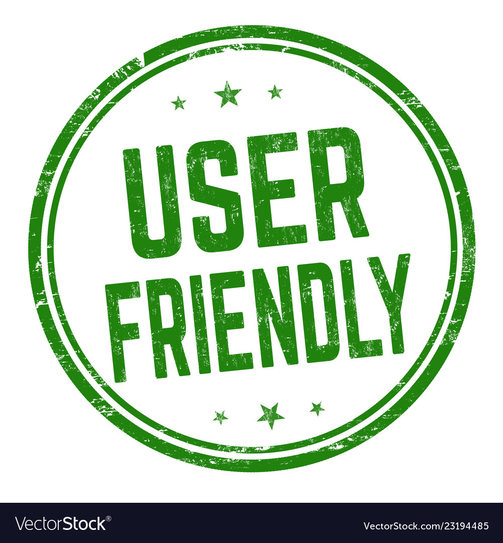 User friendly sign or stamp Royalty Free Vector Image