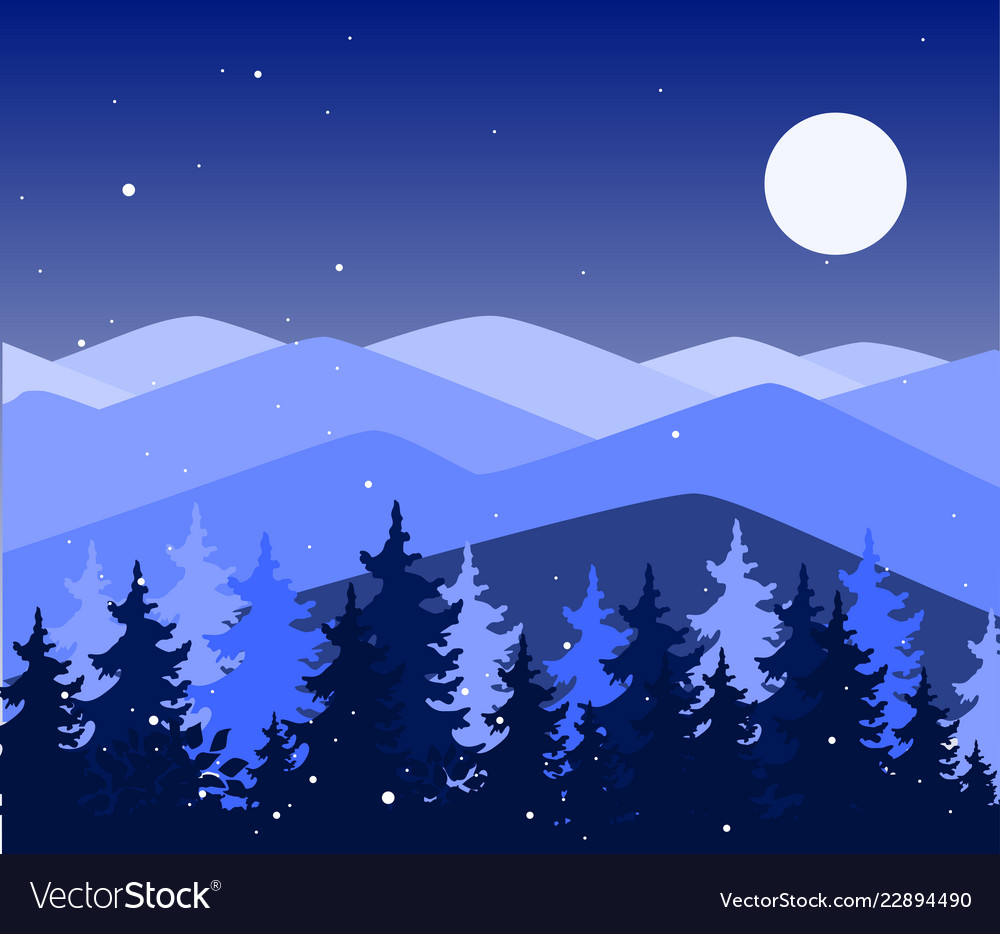 Abstract background with mountains and trees