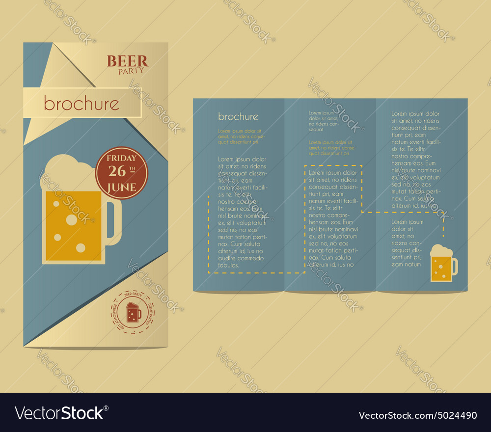 Beer party flyer invitation template with glass of beer party flyer invitation template with glass of vector image stopboris Gallery