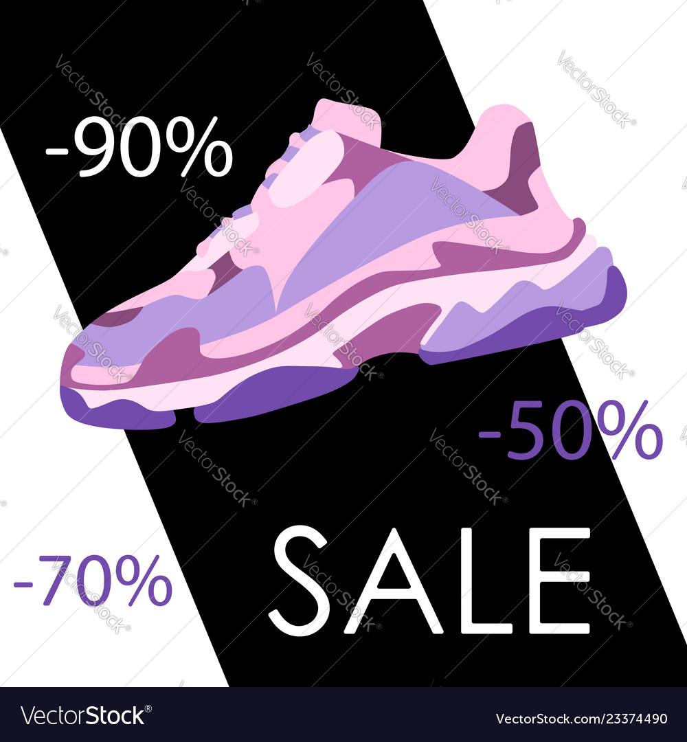 Black Friday Sneaker Shoe Sale Banner Consept Vector Image