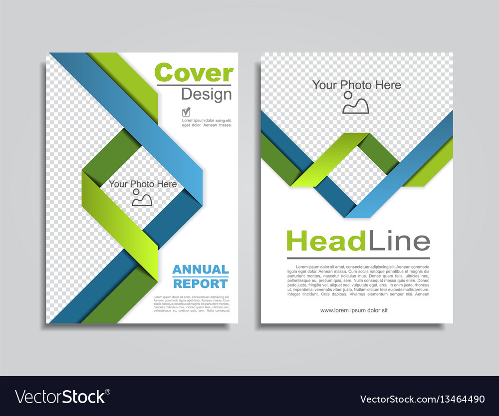 Brochure design layout with place for data