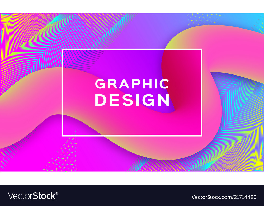Geometric abstract background gradient fluid
