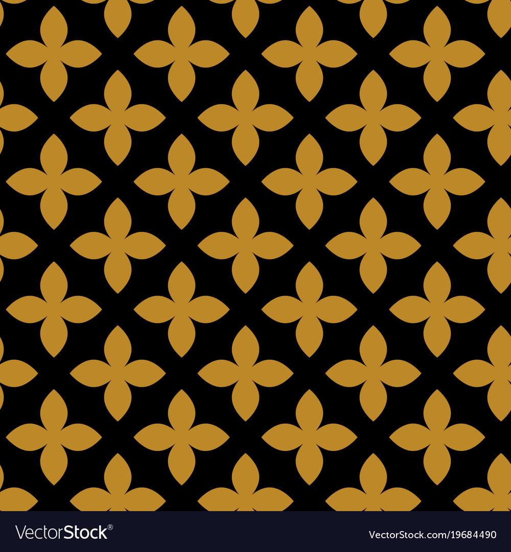 Geometric ornament golden seamless pattern
