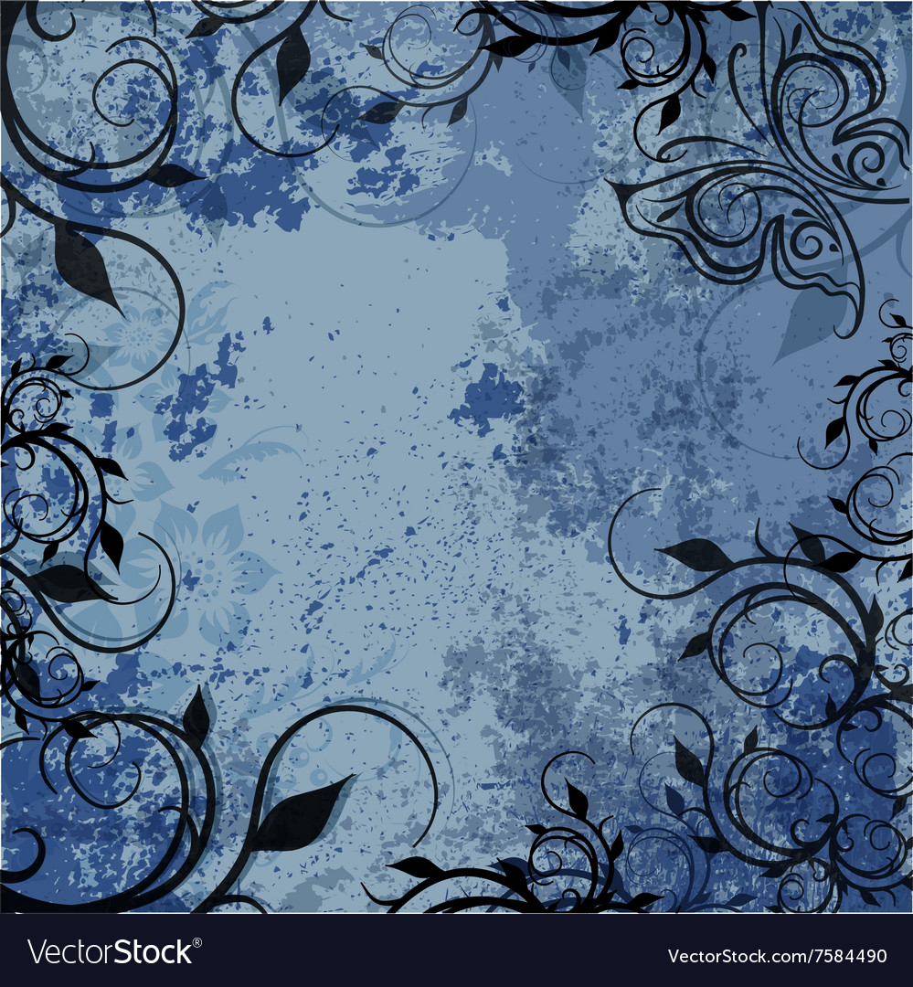 Grunge background of old texture vector image