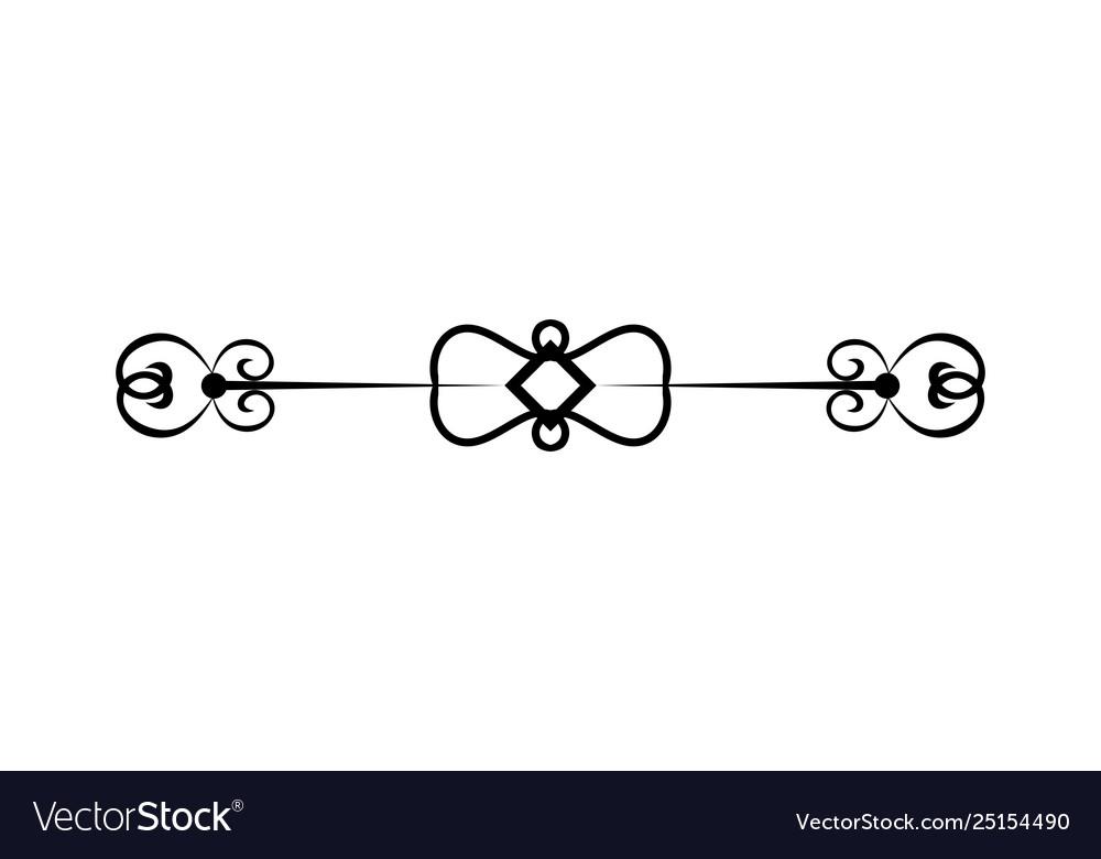 Line art decoration geometric frames floral logo