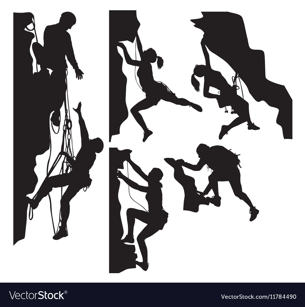 Rock Climber Silhouettes