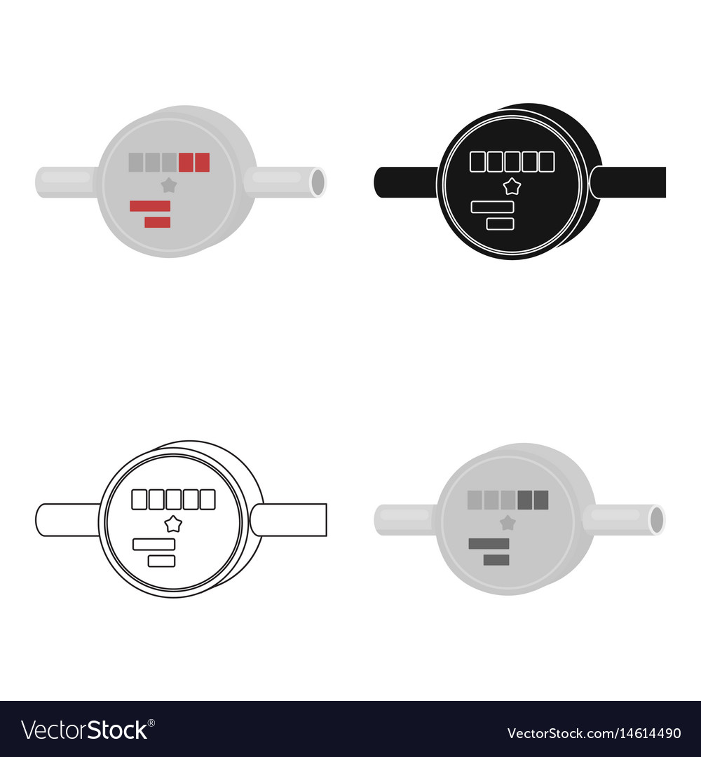 Water meter icon in cartoon style isolated on vector image
