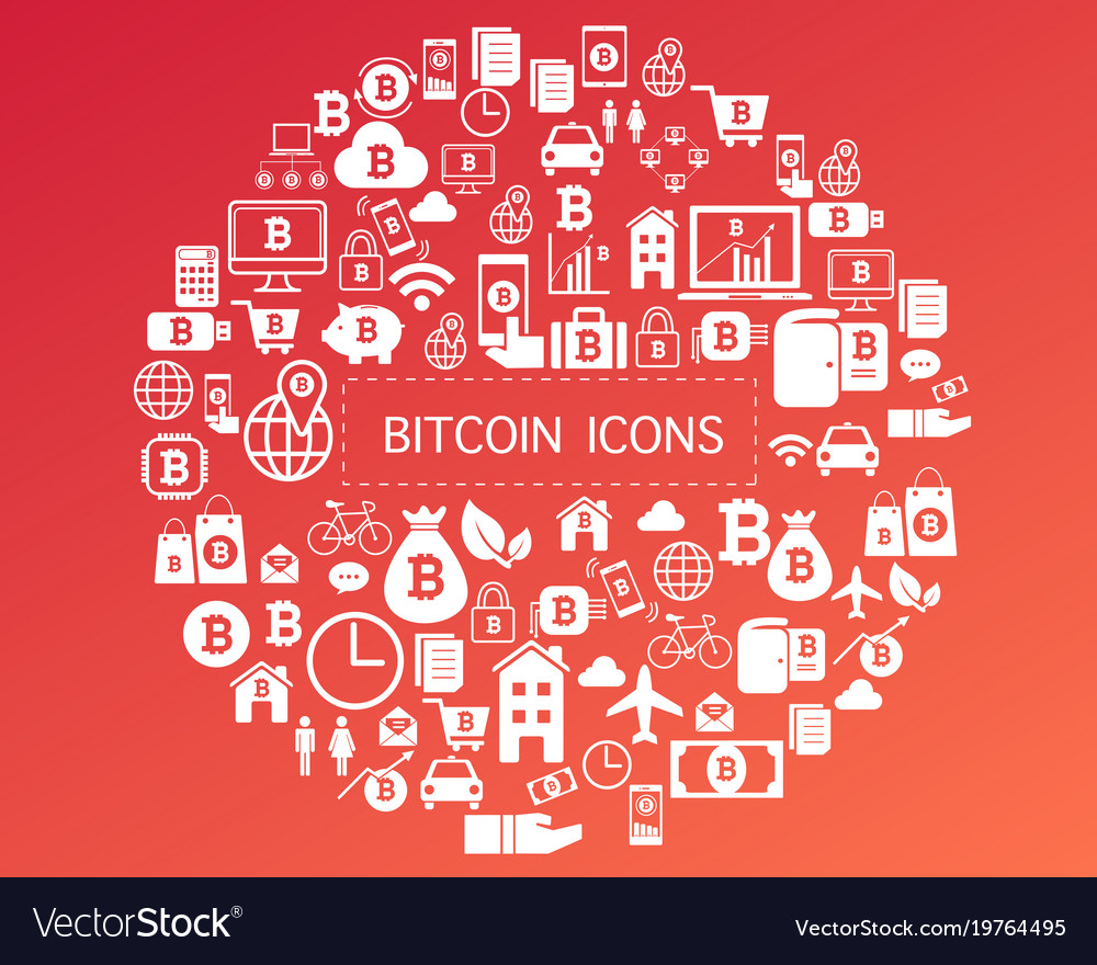 Bitcoin icons for currency exchange online on