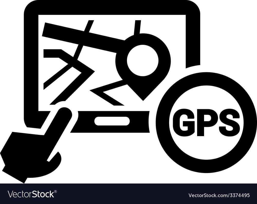 black gps icon royalty free vector image vectorstock