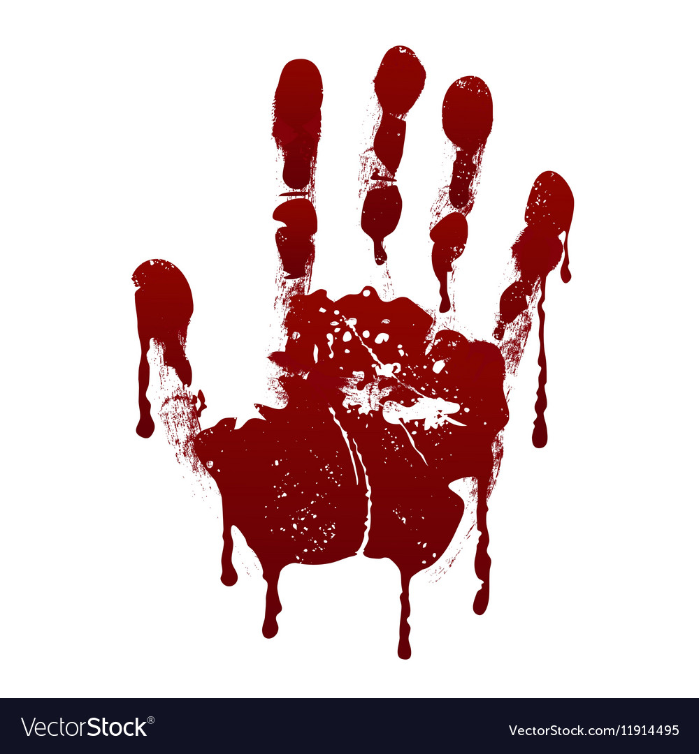 Bloody handprint Horror dirty scary blood