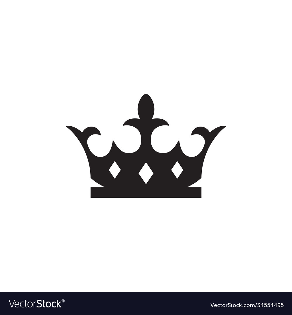 Crown silhouette icon design template isolated