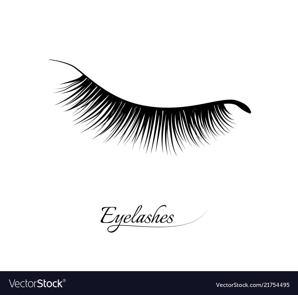 Eyelash extension beautiful black long eyelashes