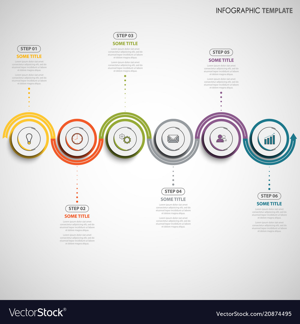Info graphic with color wave design template vector image
