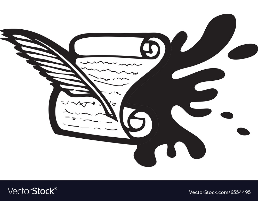 Ink and paper Design vector image