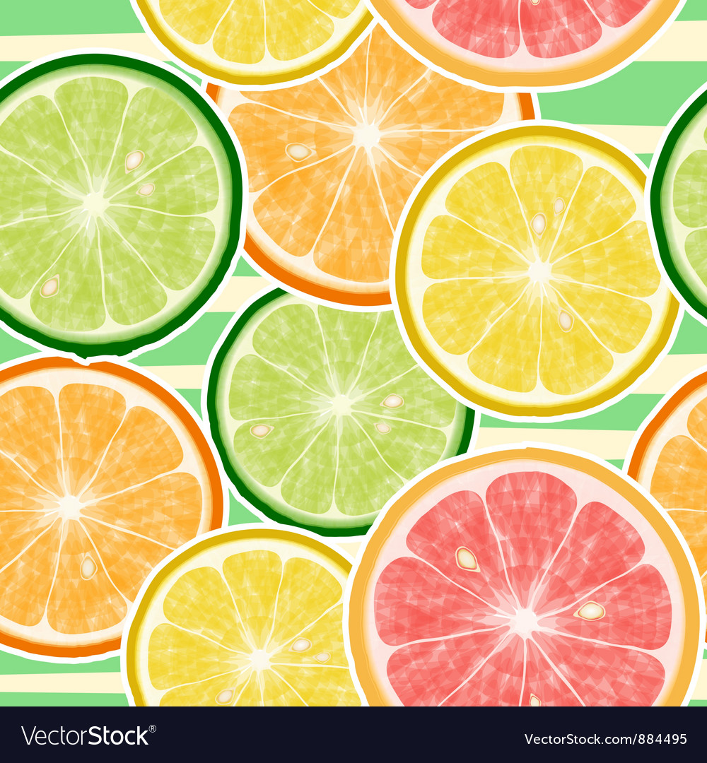 Seamless fruits background vector image