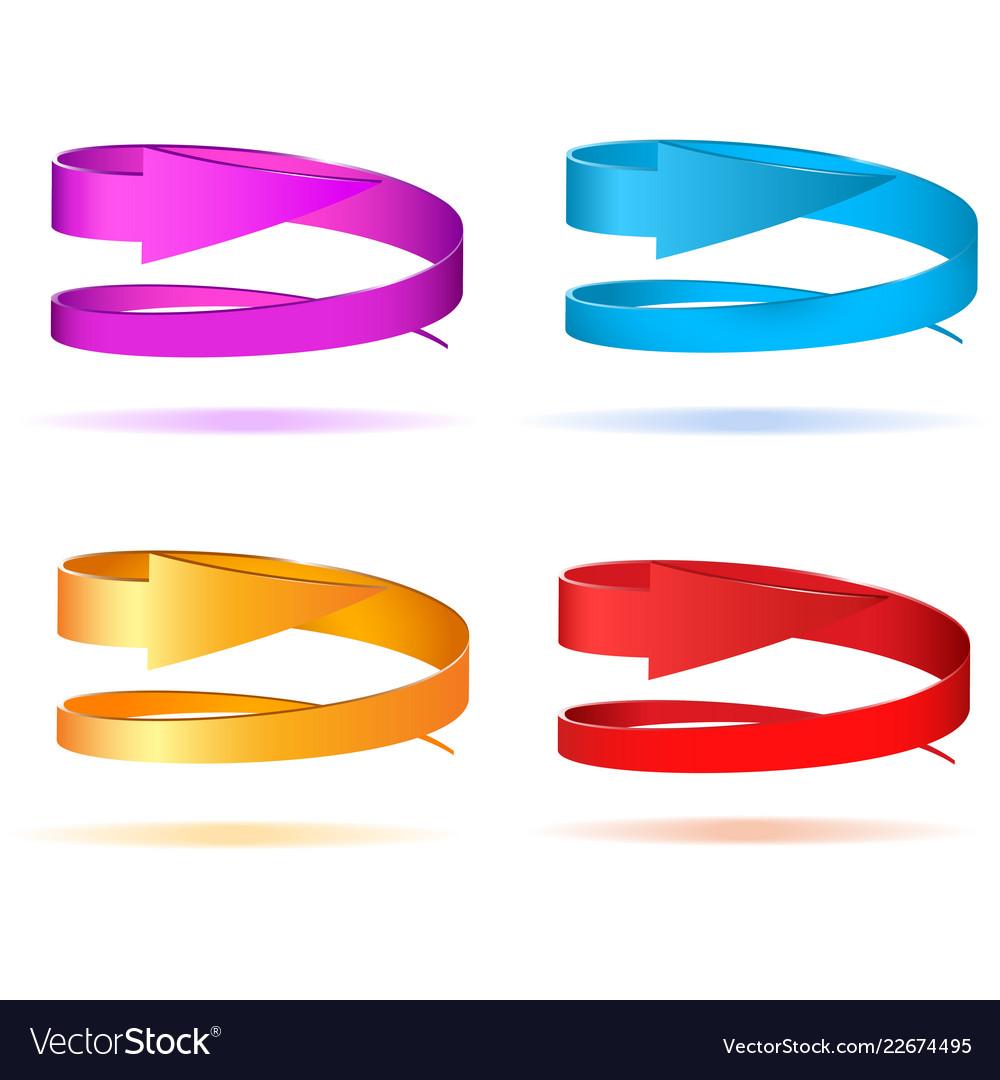 Set of circular 3d arrows