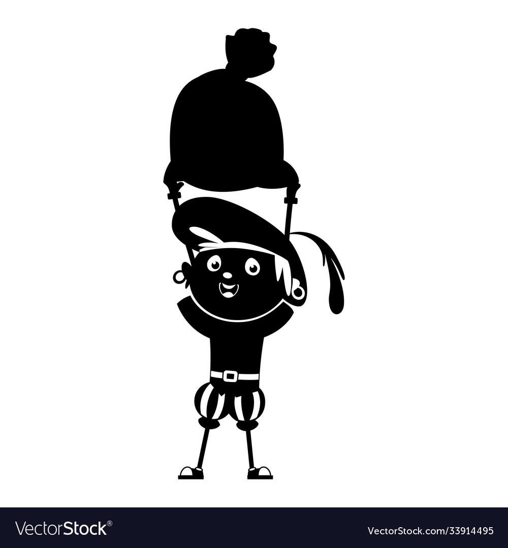 Zwarte piet silhouette