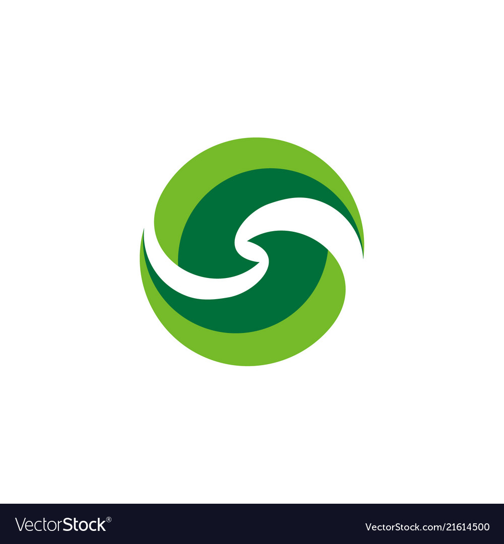Abstract letter s nature logo