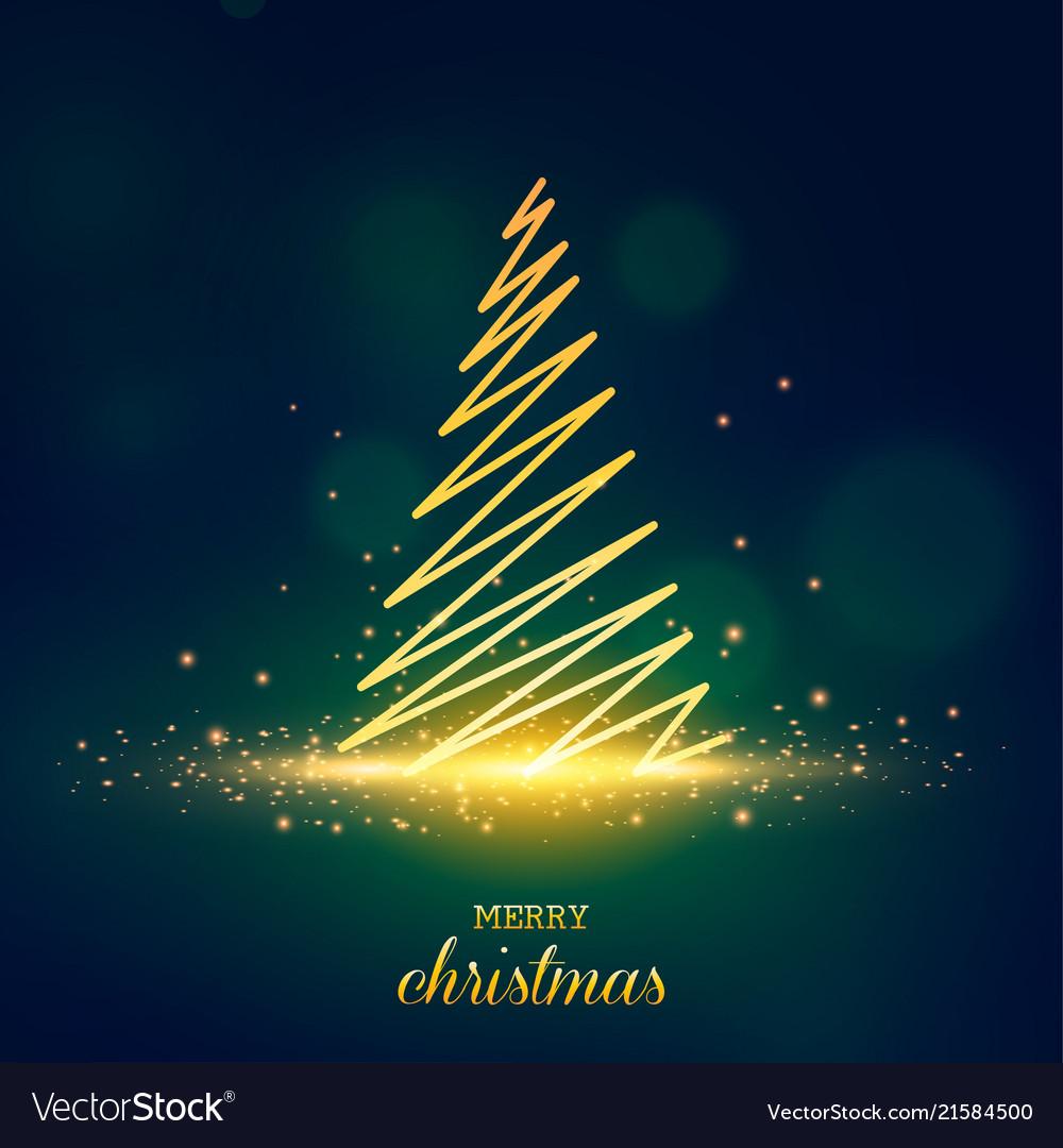 Christmas tree postcard background