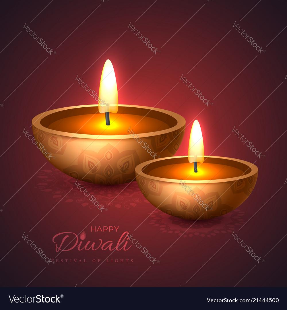 Diwali diya - oil lamp holiday design for