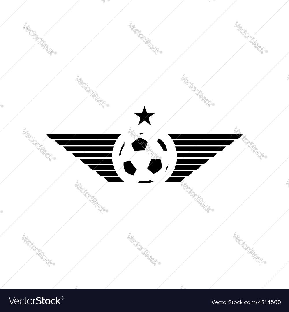 Football or soccer ball mockup sport logo design