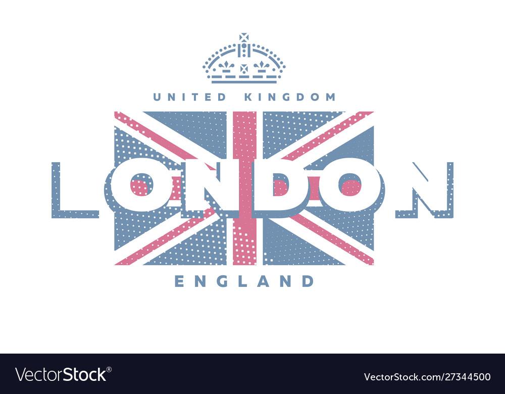 London united kingdom t-shirt printing design