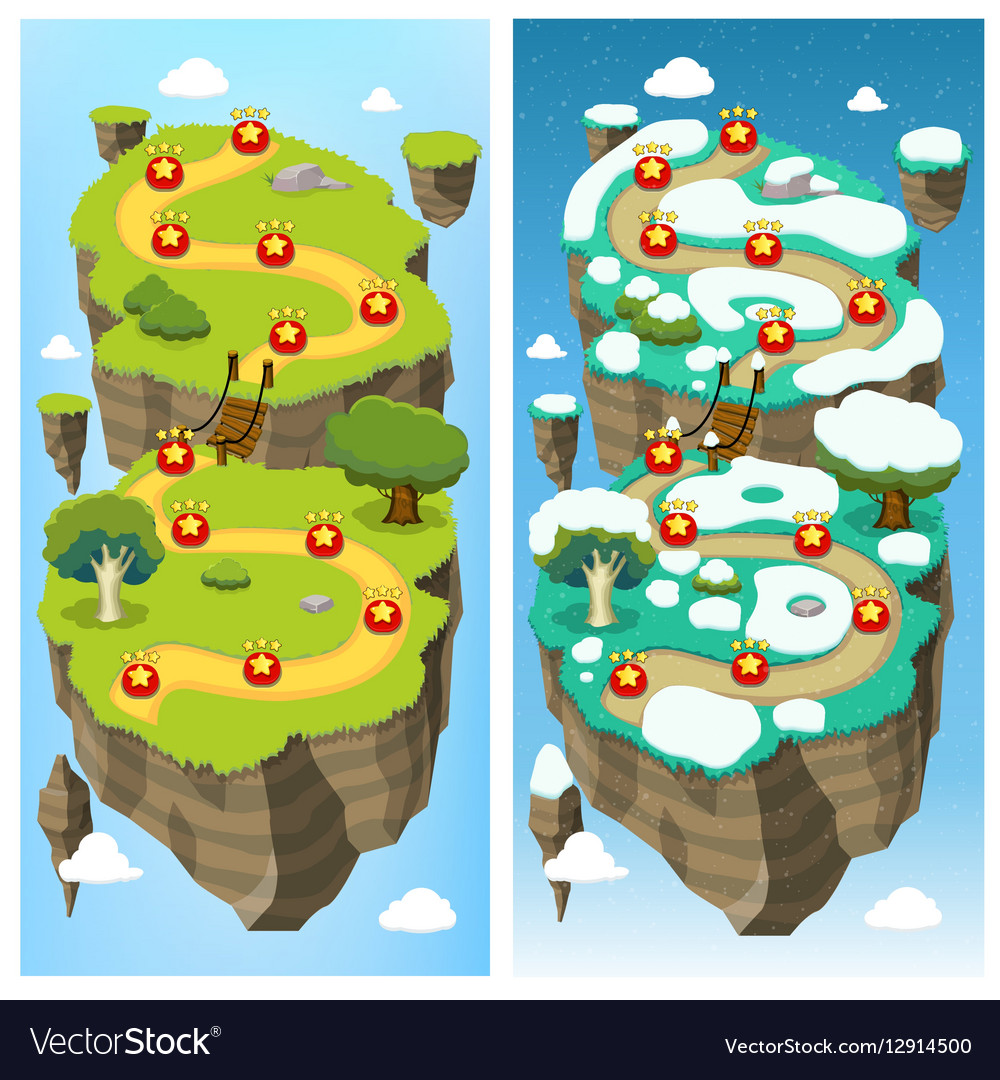 mobile game level map concept royalty free vector image