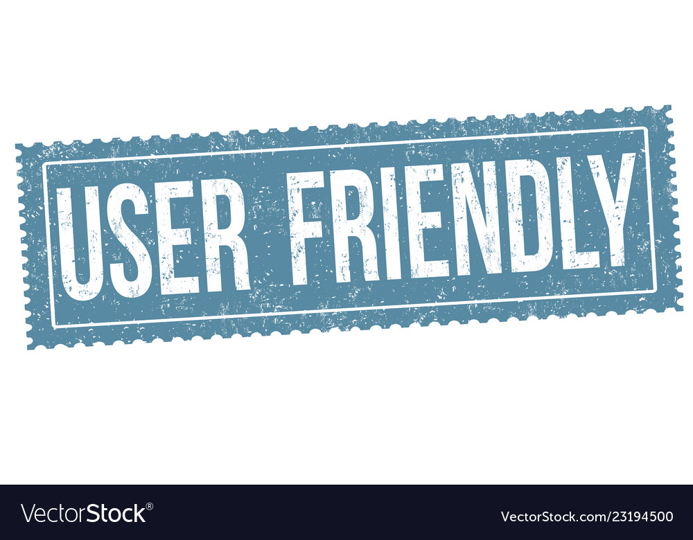User friendly sign or stamp vector image on VectorStock