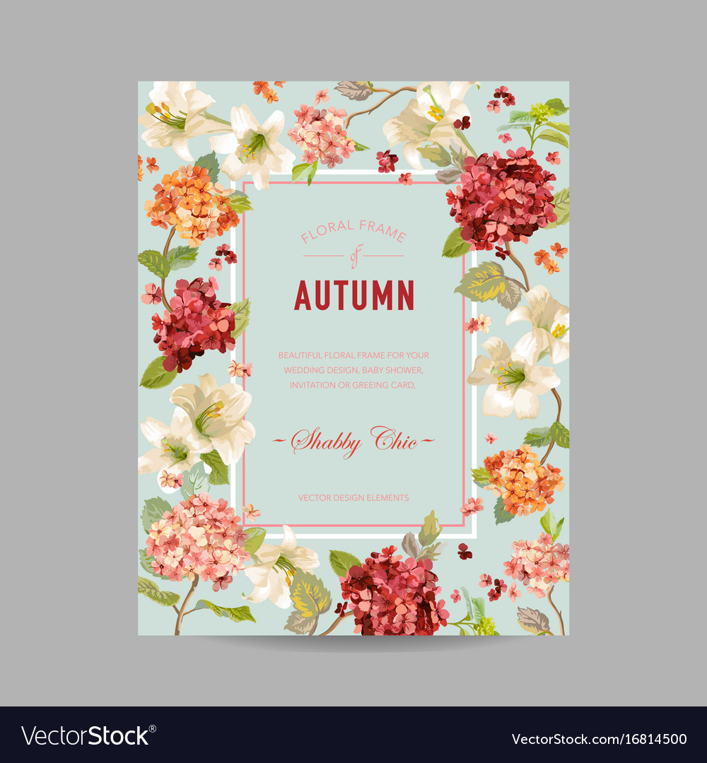 Vintage autumn and summer floral invitation vector image stopboris Images