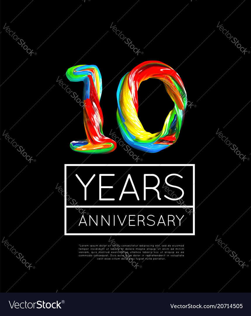 10th anniversary congratulation for company or