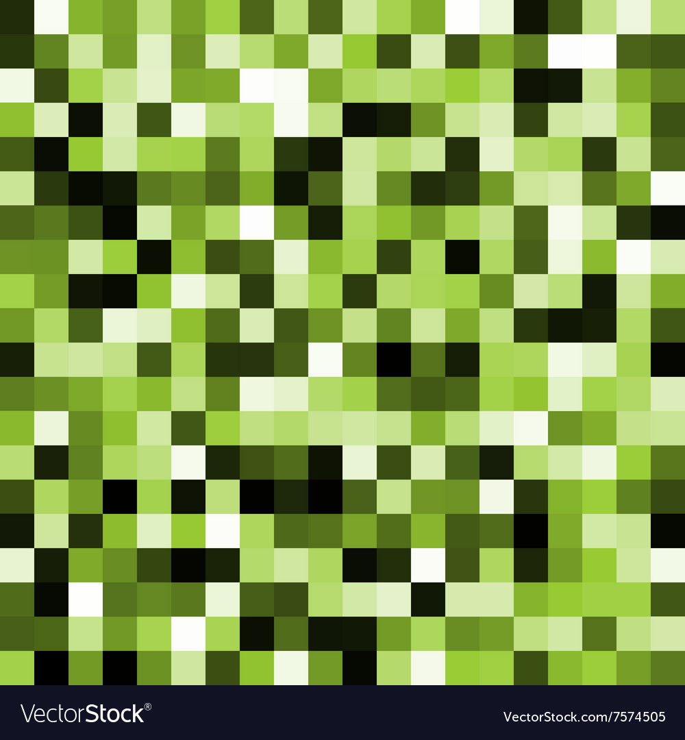 Abstract green pixel background vector image