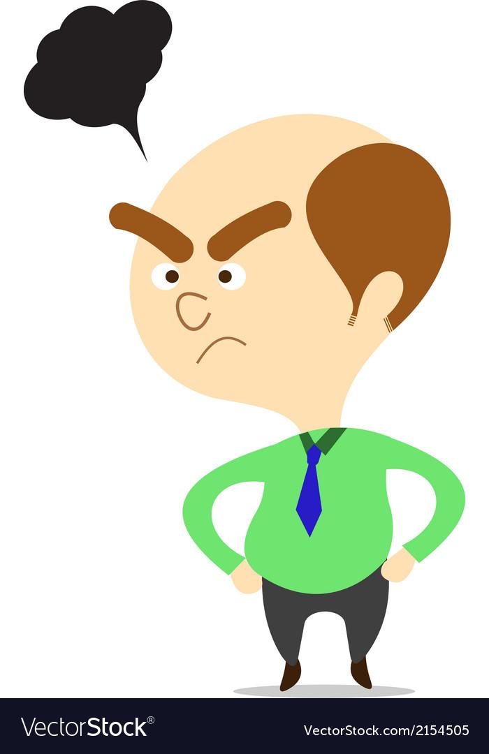 Cartoon boss looking angry vector image