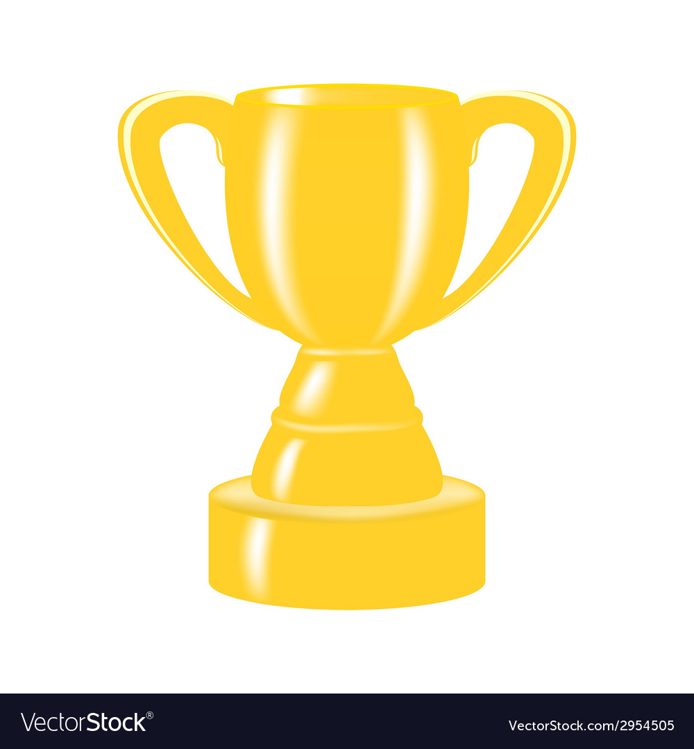 Cup champion vector image