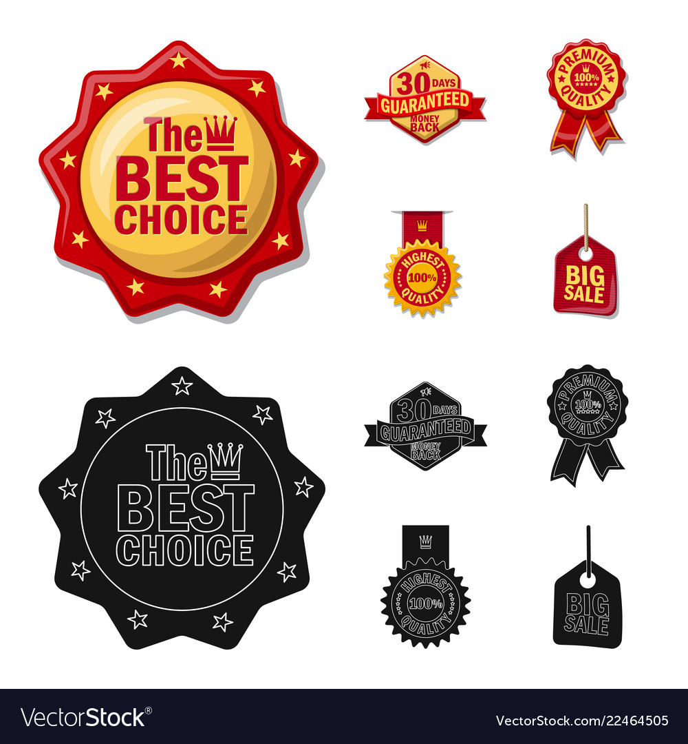 Design of emblem and badge icon set of