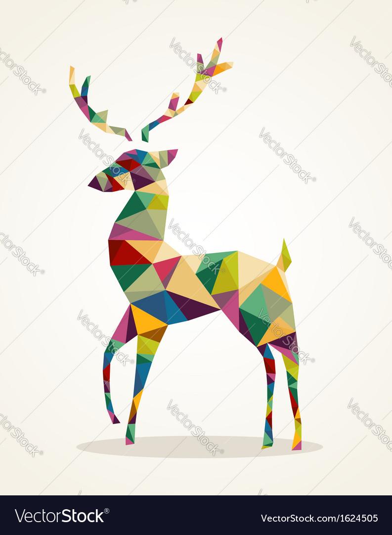 Merry Christmas trendy abstract reindeer EPS10