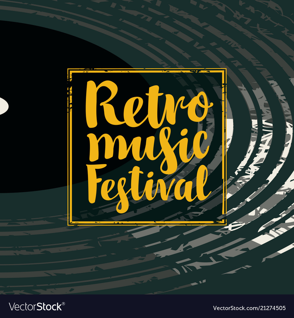 Poster for a retro music festival