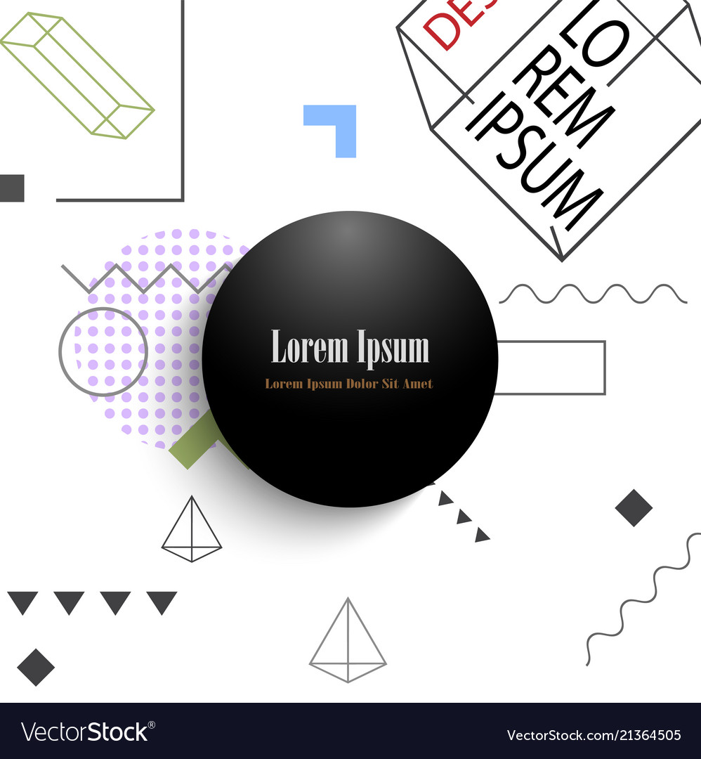 Round abstract geometric banner and background