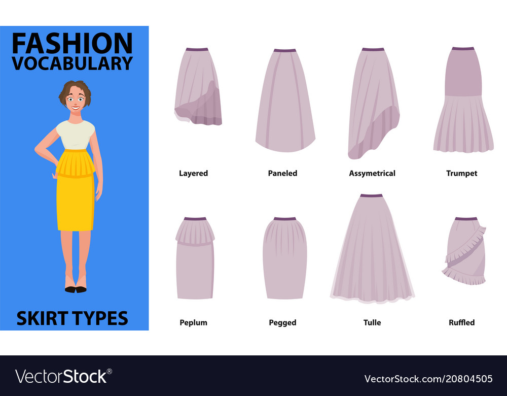 Skirt vocabulary collections of standard classic