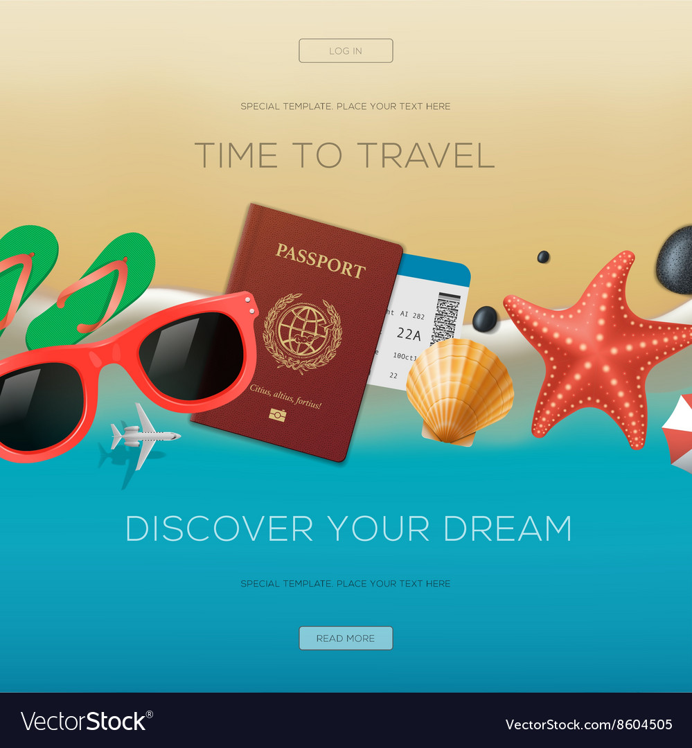 Summertime vacation background time to travel
