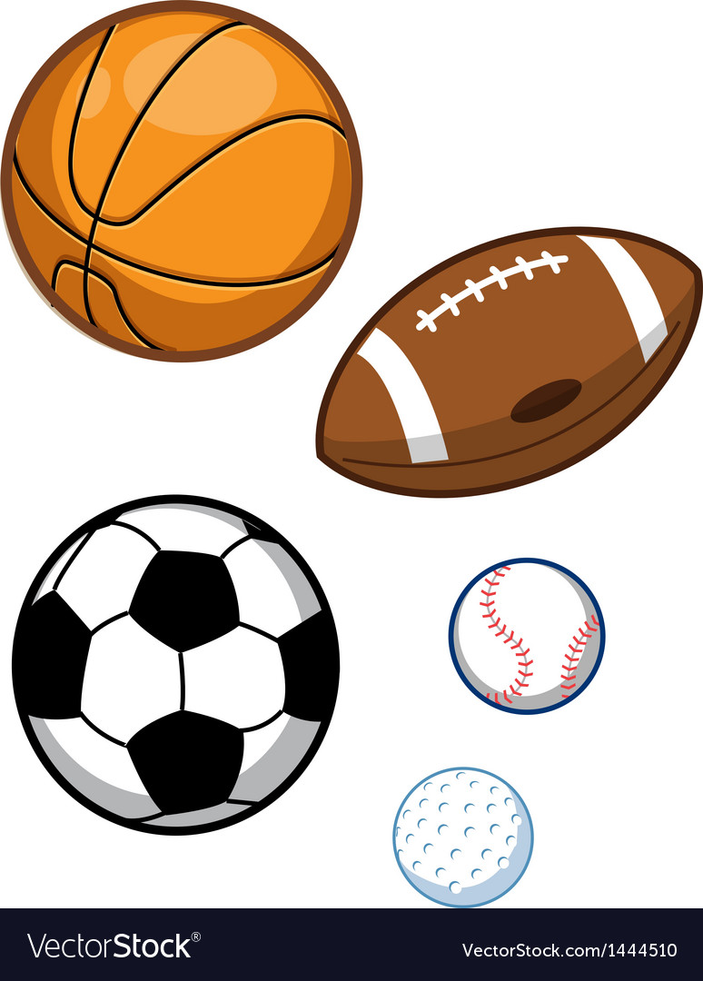 Assorted Sports Balls Royalty Free Vector Image