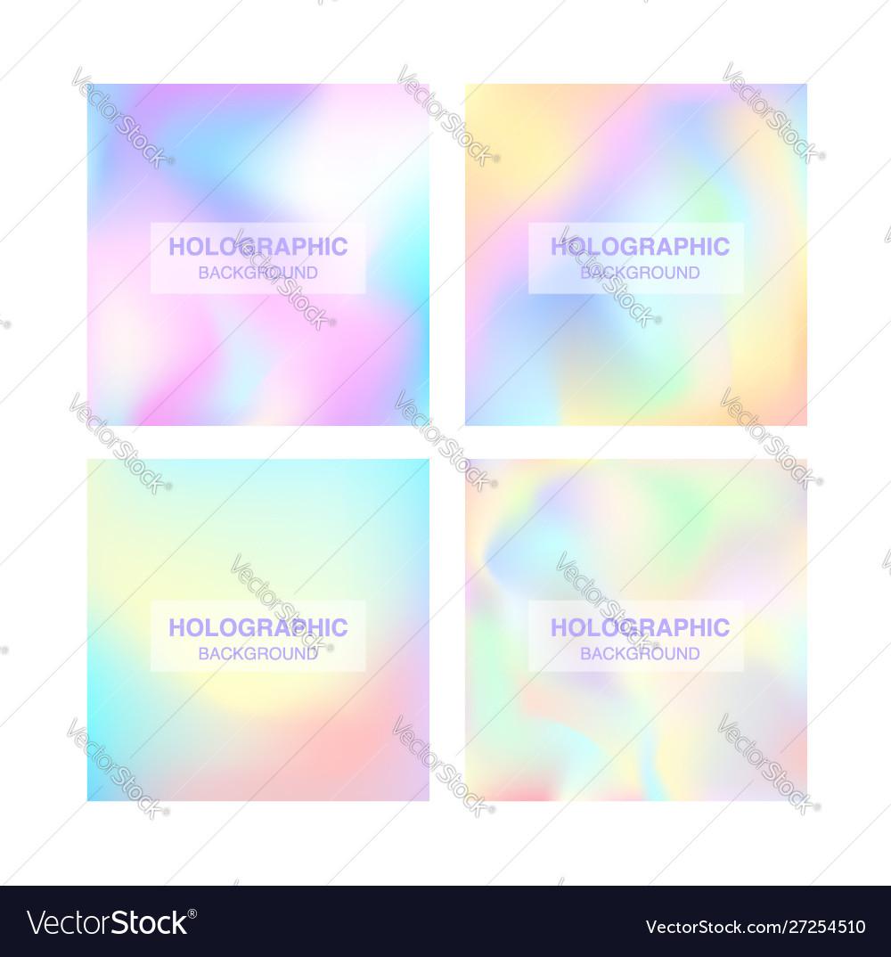 Blurred foil holographic background