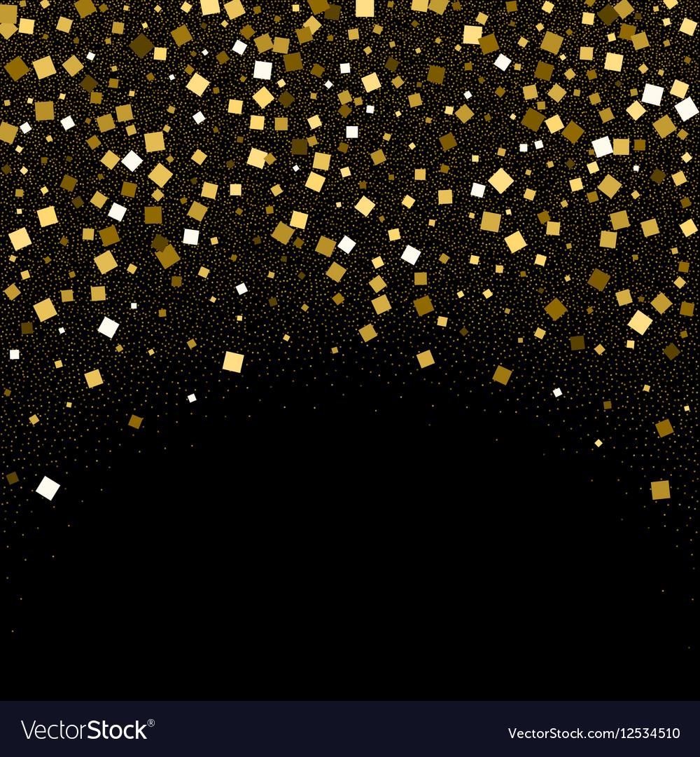 e0be754b3c6 gold confetti glitter on black background vector image .
