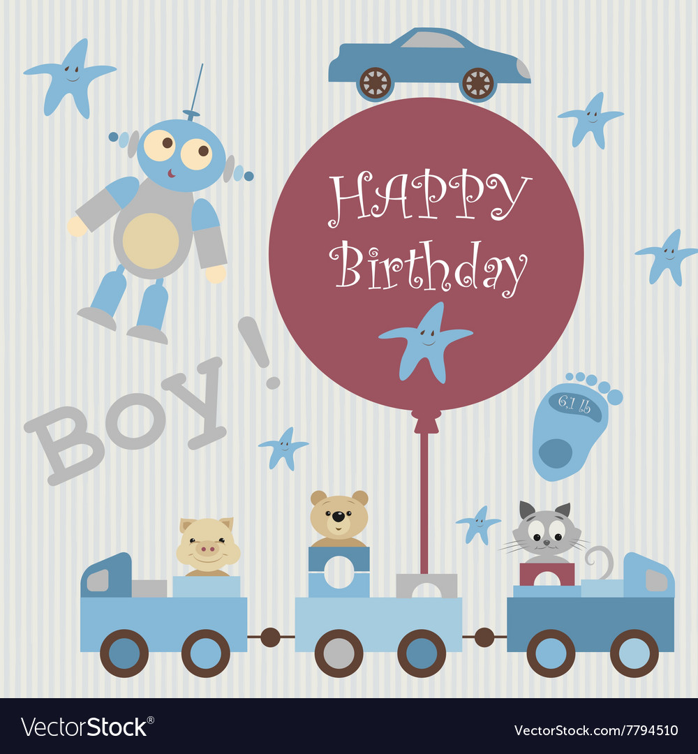 Greeting Card For Baby3 Royalty Free Vector Image