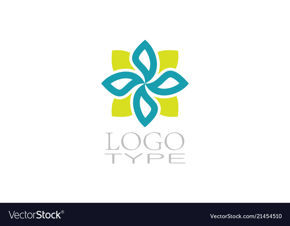 Square decoration logo