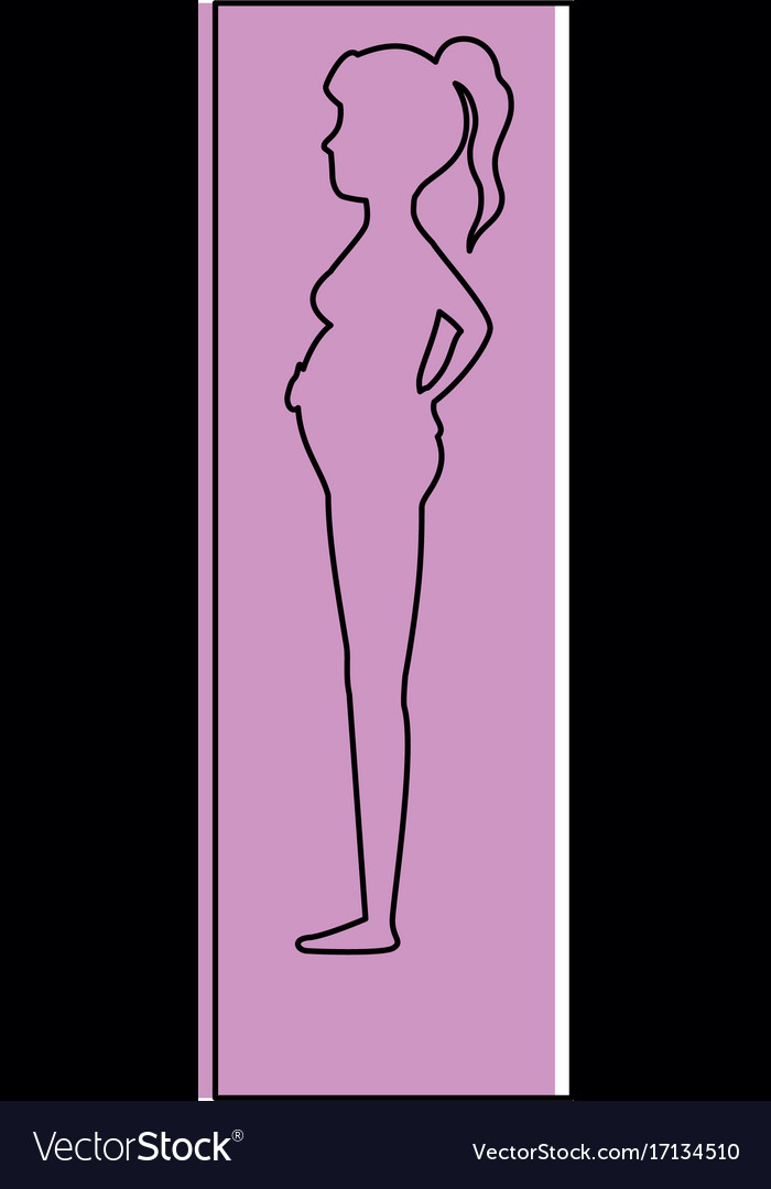 Woman pregnant silhouette icon