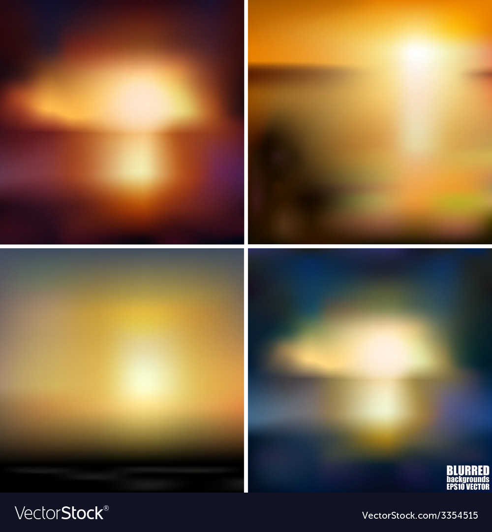 Abstract blurred backgrounds set abstract