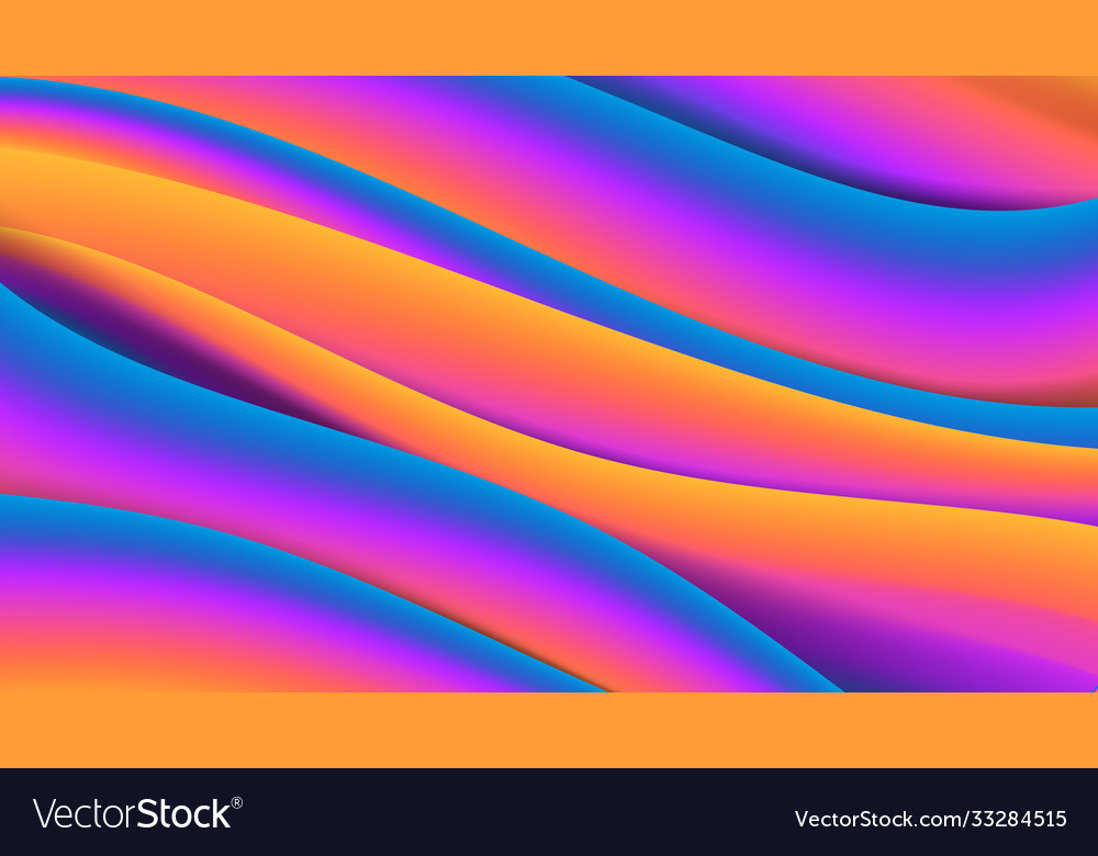 Abstract wave liquid fluid shape color background
