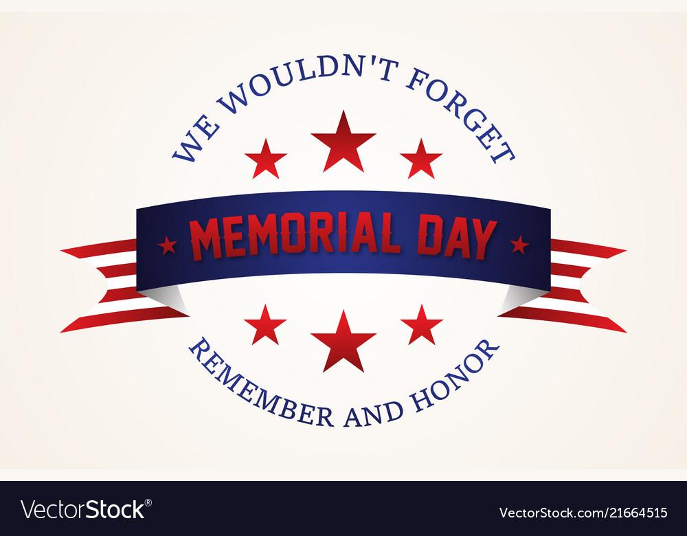 Celebration memorial day