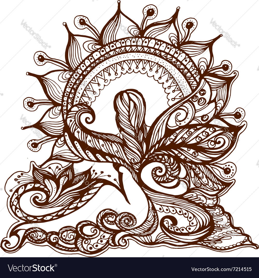 Element Painted With Henna Royalty Free Vector Image